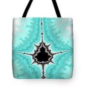 Mandelbrot Fractal Black Aqua White Vertical Tote Bag