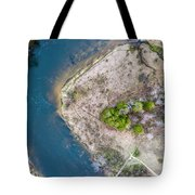 Manistee River Bend Aerial Tote Bag