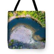 Manistee River Curve Aerial Tote Bag