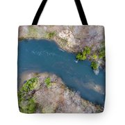 Manistee River From Above Tote Bag
