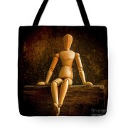 Mannequins On A Wooden Box Tote Bag