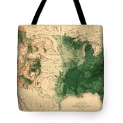 Map Of American Forests 1883 Tote Bag