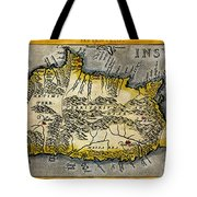 Map Of Crete 1584 Tote Bag