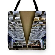 Margaret Hunt Hill And City From Underneath Tote Bag