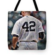 Mariano Rivera  New York Yankees Abstract Art 1 Tote Bag