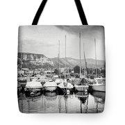 Marina Geneva Switzerland Black And White Tote Bag