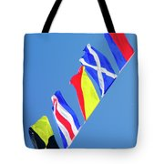 Maritime Signal Flags Tote Bag