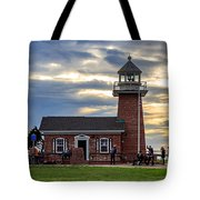Mark Abbott Memorial Lighthouse And Santa Cruz Surfing Museum Tote Bag
