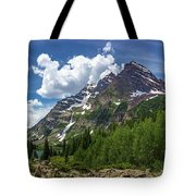 Maroon Bells And Crater Lake Panorama Tote Bag by Andy Konieczny