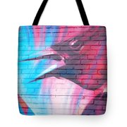 Maroon Blackbird Tote Bag