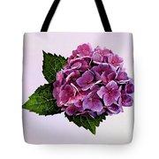 Maroon Hydrangea Tote Bag