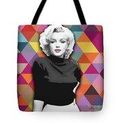 Marylin Monroe Diamonds Tote Bag