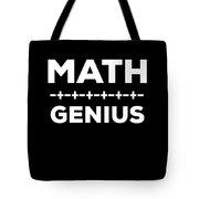 Math Genius Apparel Tote Bag