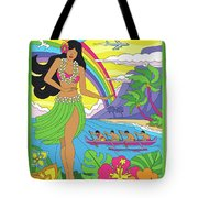 Maui Poster - Pop Art - Travel Tote Bag