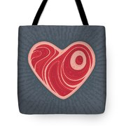 Meat Heart Tote Bag