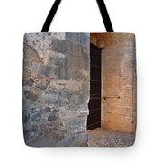 Medieval Castle Entrance In Algarve Tote Bag