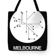 Melbourne White Subway Map Tote Bag