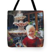Melody By The Fountain Tote Bag