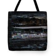 Merchandise Beside A Railroad Track  Tote Bag by Juan Contreras