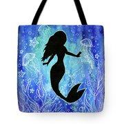 Mermaid Under Water Tote Bag