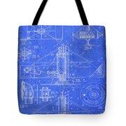 Merry Go Round Amusement Carousel Vintage Patent Blueprint Tote Bag