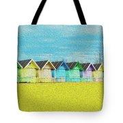 Mersea Island Beach Hut Oil Painting Look 2 Tote Bag