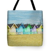 Mersea Island Beach Hut Oil Painting Look 3 Tote Bag