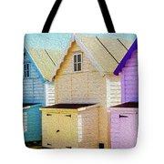 Mersea Island Beach Hut Oil Painting Look 6 Tote Bag