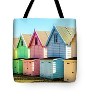 Mersea Island Beach Huts, Image 7 Tote Bag