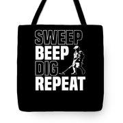 Metal Detector Beach Pun Apparel Tote Bag