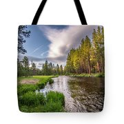 Metolius River Evening Tote Bag by Matthew Irvin
