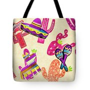 Mexican Mural Tote Bag