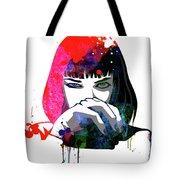 Mia Snorting Watercolor Tote Bag