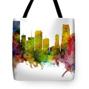 Miami Florida Skyline Panoramic Tote Bag