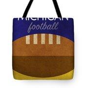 Michigan Football Minimalist Retro Sports Poster Series 001 Tote Bag