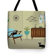 Mid Century Modern Room Tote Bag by Donna Mibus