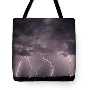 Mid July Nebraska Lightning 020 Tote Bag by Dale Kaminski