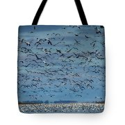 Migration Of The Snow Geese Tote Bag