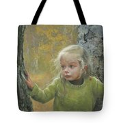 Mila Between Two Birches Tote Bag