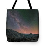 Milky Way Over Half Dome, Yosemite Tote Bag