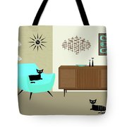 Mini Fish Art Aqua Chair Tote Bag