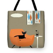 Mini Gravel Art Orange Chair Tote Bag