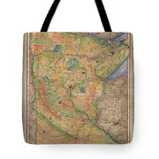 Minnesota Historic Wagon Roads Hand Painted Tote Bag