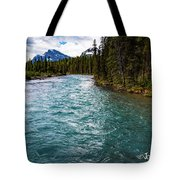 Mistaya River Blues Tote Bag