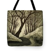 Misty Dawn In Early Winter Tote Bag