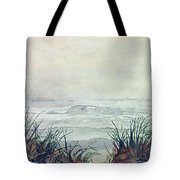 Misty Morning On Lawrencetown Beach Tote Bag