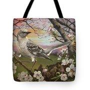 Mockingbird Sunset Tote Bag