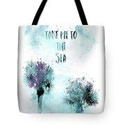 Modern Art Take Me To The Sea - Jazzy Watercolor Tote Bag