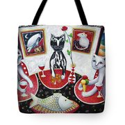 Monaco Cats Red Tote Bag