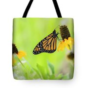 Monarch On Wildflowers Tote Bag